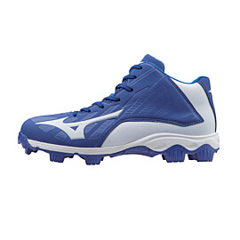 mizuno 9 spike advanced franchise 8 mid 11gp158252 korfbalschoenen dames royal white