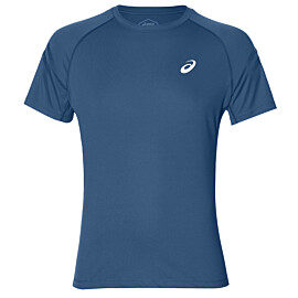 asics silver icon hardloopshirt heren deep sapphire
