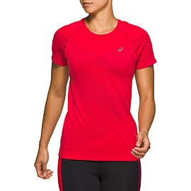 asics tokyo seamless hardloopshirt dames classic red