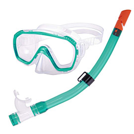 aqua lung dolphino snorkelset junior green