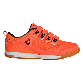 brabo velcro indoor bf1020c hockeyschoenen junior neon orange