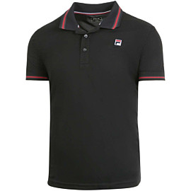 fila piro tennispolo heren black