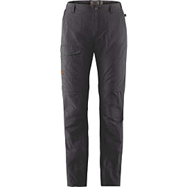 fjallraven travellers mt zip-off wandelbroek dames dark grey