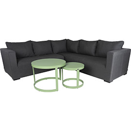 hartman oliver 45 + 66 loungeset anthracite green