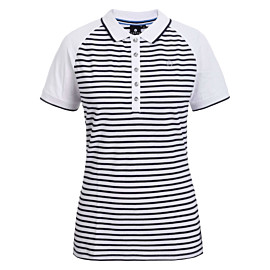 luhta arantila polo dames optic white stripes