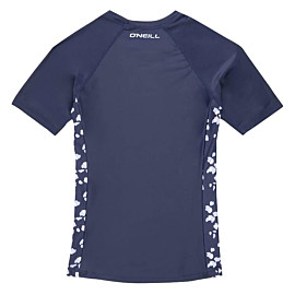o'neill printed short sleeve skins uv shirt junior scale