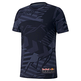 puma red bull racing aop shirt heren night sky