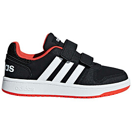adidas hoops 2.0 b75960 vrijetijdsschoenen junior core black cloud white hi-res red