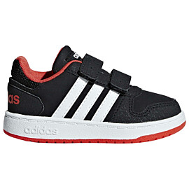adidas hoops 2.0 b75965 vrijetijdsschoenen junior core black cloud white hi-res red