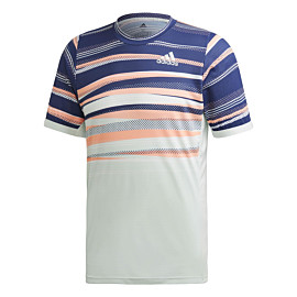 adidas freelift heat ready tennisshirt heren dash green tech indigo