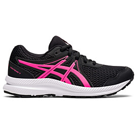 ASICS Contend 7 1014A192 hardloopschoenen junior black hot pink