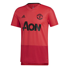 adidas manchester united trainingsshirt core pink blaze red