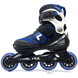 Fila J-One Boy verstelbare inline skates junior black blue