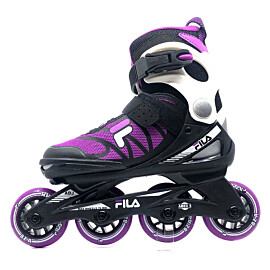 Fila J-One Girl verstelbare inline skates junior black purple