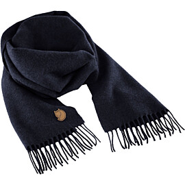 fjallraven solid re-wool scarf sjaal dark navy