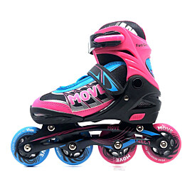 Move Fast Girl verstelbare inline skates junior roze