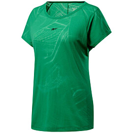 reebok burnout shirt dames court green