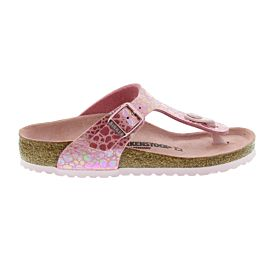 Birkenstock Gizeh slippers junior metallic stones pink