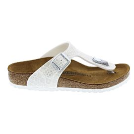 Birkenstock Gizeh slippers junior magic snake white