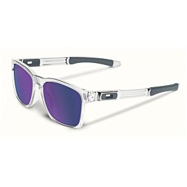 Oakley Catalyst Violet Iridium zonnebril heren polished clear