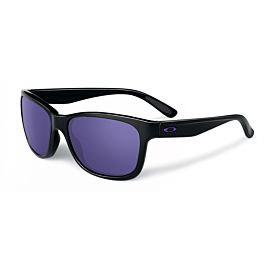 Oakley Forehand Violet Iridium zonnebril dames polished black