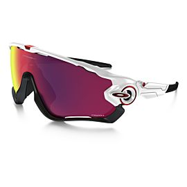 Oakley Jawbreaker Prizm Road zonnebril heren polished white