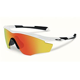 Oakley M2 Frame XL Fire Iridium fietsbril heren polished white