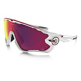 Oakley Jawbreaker Prizm Road Tour de France fietsbril heren polished white