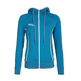Reece Australia Kate Hooded Zip Sweat trainingsvest dames blauw