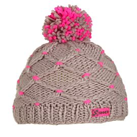 Sinner Crotched Beanie muts grey pink