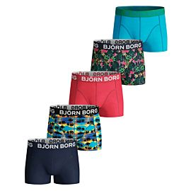 Björn Borg Sunset Mini en Exotic Mini onderbroek junior blue atoll 5-Pack