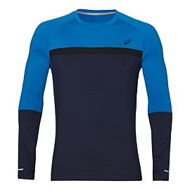 ASICS Thermopolis Plus LS hardloopshirt heren peacoat race blue