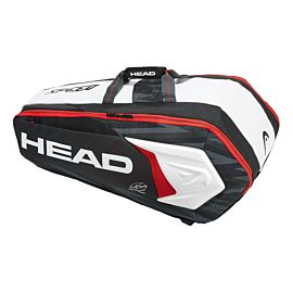 Head Djokovic 9R Supercombi tennistas black white schuin