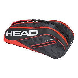 Head Tour Team 6R Combi tennistas Black Red schuin