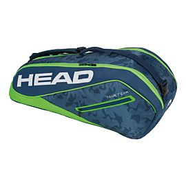 Head Tour Team 6R Combi tennistas navy green schuin