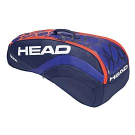 Head Radical 6R Combi tennistas magma orange blue dawn schuin