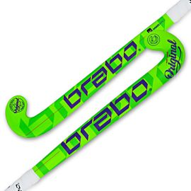Brabo O'Geez hockeystick junior lime blue