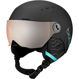 Bollé Quiz Visor skihelm junior matte black blue