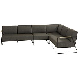 4 Seasons Outdoor Coast Large loungeset anthracite
