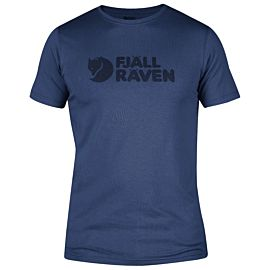 Fjällräven Logo shirt heren deep blue