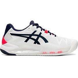 ASICS Gel-Resolution 8 Clay 1042A070 tennisschoenen dames white peacoat
