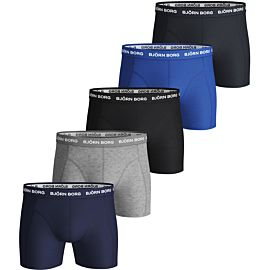 Björn Borg Solid Essential onderbroek heren blue depths 5-pack