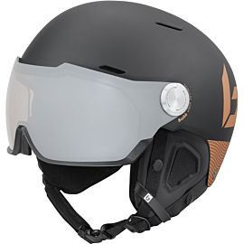 Bollé Might Visor Premium skihelm matte black blush gold