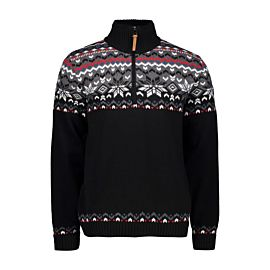 CMP Man Knitted Pullover WP trui heren nero