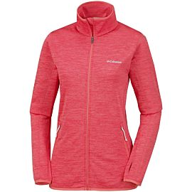 Columbia Sapphire Trail fleece vest dames red coral coral bloom