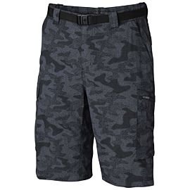 Columbia Silver Ridge Printed Cargo short heren black heather camo print