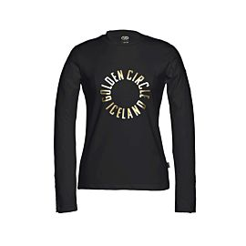 Goldbergh Circle Sweater trui dames black voorkant