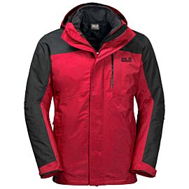 Jack Wolfskin Viking Sky 3-in-1 outdoor jack heren red lacquer