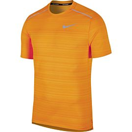 Nike Dry Miller hardloopshirt heren orange peel heather