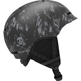 Salomon Grom skihelm junior black tie die